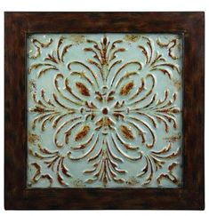 painted pressed tin