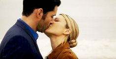 Lucifer Morningstar and Chloe Decker first kiss ❤ Lucifer S02E11