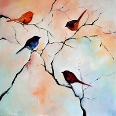 Birds in the garden 4 #OilPaintingBirds