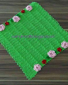 Hijau oh hijau with colourful flowers.Cover printer ( multipurpose use) boleh juga dijadikan alas meja... 🌷Have a nice friday, guys🌷#sarinahcrafts #handmade #crocheter