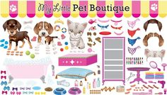 PEEL & PLAY Pet Boutique Wall Play Set