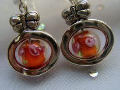 Ohrclips, orange von kunstpause auf DaWanda.com