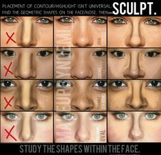 Master the Perfect Make-up How to Contour Your Body with Self-Tanner How to Contour for Different Face Shapes Contour, Blush, and Highlighter for Different Face Shapes Makeup 101, Drugstore Makeup, Makeup Inspo, Makeup Inspiration, Makeup Ideas, Makeup Style, Makeup Tutorials, Makeup Trends, Nose Makeup