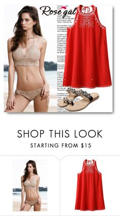 """Red Dress"" by dzemila-c ❤ liked on Polyvore featuring rosegal"