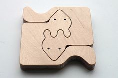 Cool paintable animal puzzle fox by Mediodesign on Etsy, €16.95