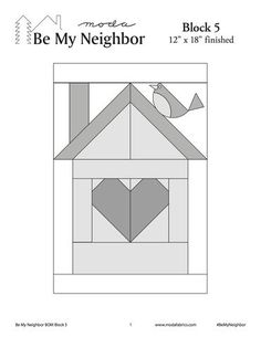 Download the free pattern for Block 5 for the Moda Be My Neighbor Quilt Along at www.mytimelessday.com