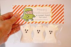 Happy Halloween Treat Bag Tags Child Halloween by theprettypaperie