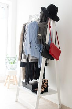 walk in closet- dressing room - IKEA - Stolmen - Ankleidezimmer - Céline - Trio Bag - Canada Scarf - Acne - Zara - Louis Vuitton - Aloe Vera