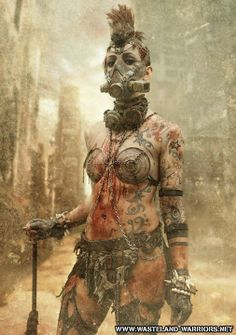 Women of Horror and Violence Post Apocalyptic Costume, Post Apocalyptic Art, Post Apocalyptic Fashion, Post Apocalypse, Apocalypse World, Cyberpunk, Mad Max, Cosplay, Wasteland Warrior