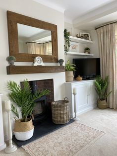 1930s Living Room, Cottage Living Rooms, Home Living Room, Living Room Decor, Log Burner Living Room, Living Room Colors, Living Room Designs, Alcove Storage Living Room, College Room Decor