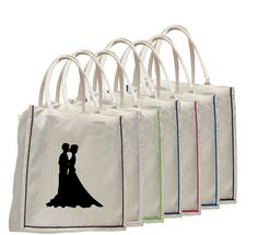 "6 oz. Cotton Canvas Tote Bag  with colored trim. All natural bag with colored trim and cotton webbed handles Dimensions: 15""W x 16""H x 6""Gusset"