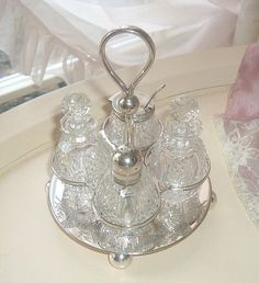 cruet set silver plated made by Charles door MyVintageRoseShop