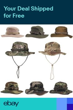 a4173453363 MFH US GI Military Boonie Bush Jungle Hat Army Combat 100% Cotton Ripstop