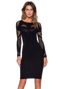 c623c64ae30 McQ Alexander McQueen Mesh Dress in Darkest Black Sexy Dresses