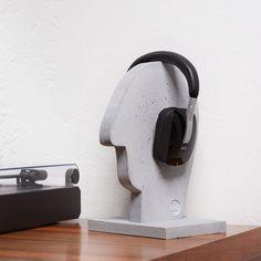 Beton Kopfhörerständer | Beton-Zeit-Raum, #Beton