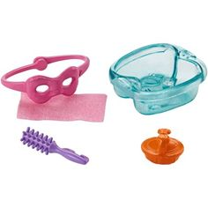 Barbie Mini Story Starter Pack - Spa Day Relaxation: Play out everyday moments with these themed Barbie accessory packs. Each includes multiple pieces to tell fun stories and explore classic fun with Barbie doll (sold separately). Barbie Chelsea Doll, Barbie Doll Set, Barbie Sets, Doll Clothes Barbie, Barbie Doll House, Girl Dolls, Barbie Stuff, Doll Stuff, Baby Dolls