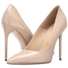 Massimo Matteo Patent Pump (Nude Patent) High Heels (€140) ❤ liked on Polyvore featuring shoes, pumps, heels, nude patent leather pumps, high heel shoes, nude shoes, nude patent pumps and patent leather pointy toe pumps