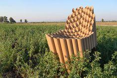 cardboard tube chair - christian Vargas