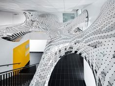 MARC FORNES / THEVERYMANY have created two architectural installations, Under Stress and Sous Tension