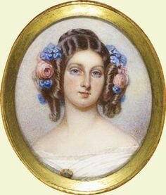 CLEMENTINE, PRINCESS AUGUSTUS OF SAXE-COBURG-GOTHA - 1844 Miniature Portraits, Miniature Paintings, Bourbon, Royal Family History, Franz Josef I, King George Iv, Francis I, Victorian Costume, North And South America
