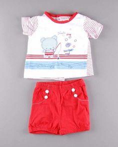 Conjunto bebé (talla 3 meses) 7,25€ http://www.quiquilo.es/bebe-nino/1672-conjunto-bebe-2-piezas.html