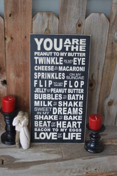 You Are The peanut to my butter twinkle in my by invinyl on Etsy