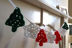 Flora and Paws: Christmas Crochet Bunting