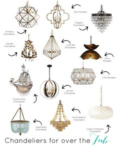 6th Street Design School : The Best Light Fixtures to Hang Over a Tub