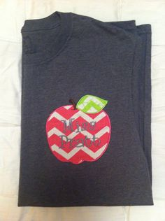 Personalized Teacher Apple Monogram Shirt by SLMonograms on Etsy