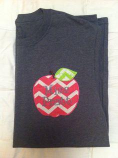Personalized Teacher Apple Monogram Shirt by SLMonograms on Etsy