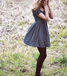 spring polka dot dress.
