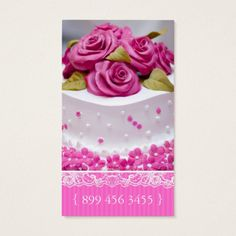 Classy and elegant bakery business cards bakery business cards elegant cake bakery business card reheart Images