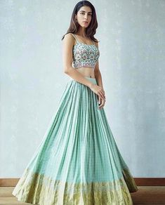 Sorbet shades, hand embroidered bustiers and of course high wasted skirts. New arrivals are waiting for you! Stop by the MARKET showroom this weekend Indian Fashion Dresses, Dress Indian Style, Indian Designer Outfits, Designer Dresses, Pakistani Bridal Wear, Bridal Lehenga Choli, Indian Wedding Outfits, Indian Outfits, Stylish Dresses For Girls