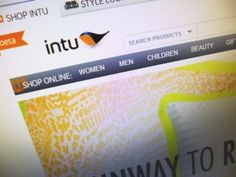 Intu.co.uk homepage, with Intu logo (11 Jul 2013). Photograph by Graham Soult