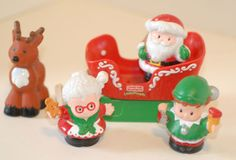 Christmas Holiday with Santa, Mrs. Claus, Elf, Sleigh and Raindeer, FPLP Lot | eBay