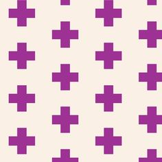 Swiss Cross Orchid fabric by trizzuto on Spoonflower - custom fabric