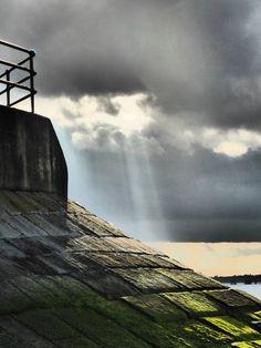Sun rays, Isle of Sheppey, Kent
