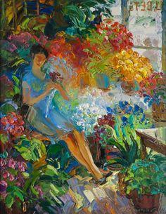Семенихин Игорь. В цветочном магазине