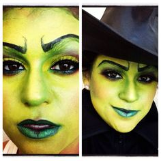 #halloween#makeup#wicked witch of the east # sephoraselfie # green witch