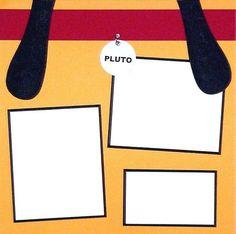 DISNEY SCRAPBOOK - pluto page