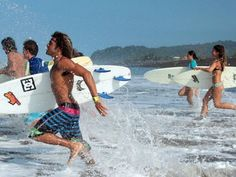 Catch the wave! This is a surf and yoga holiday in Costa Rica. #surfing #yogaretreat #costarica