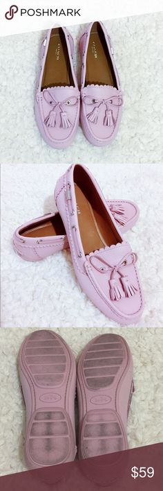 Coach Cotton Candy Pink Loafers Size 10 B. Lightly used in excellent shape. Genuine leather. Coach Shoes Flats & Loafers