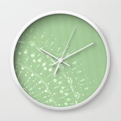 Pastel Green Modern Wall Clock modern wall clock by lake1221
