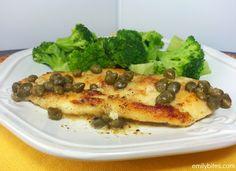 Emily Bites - Weight Watchers Friendly Recipes: Chicken Piccata