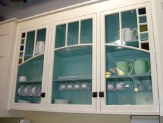 White With Glass, Aqua Backdrop to Frame Cranberry Glass Collection.
