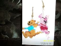 Piglet+n+Roo+From+Winnie+the+Pooh+Earrings+by+TBTT+on+Etsy,+$8.00