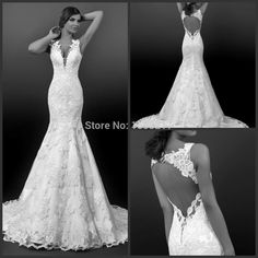Find More Wedding Dresses Information about 2015 New Vintage High end Lace Wedding Dress Elegant Mermaid V Neck Long Bridal Gowns vestido de novia sirena Wedding Dresses,High Quality gown dress,China dress up wedding gowns Suppliers, Cheap gown from TZYS wedding dresses on Aliexpress.com