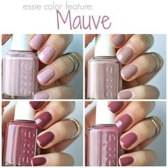 Essie Mauves : Neo Whimsical, Lady Like, Island Hopping & Angora Cardi | Essie Envy