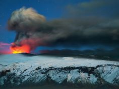 Volcano Eyjafjallajökull, in Iceland.