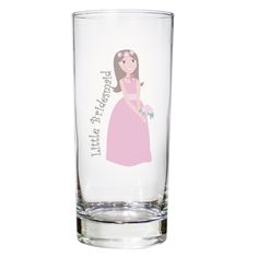 Little bridesmaid keepsake glass, perfect gift for flower girls and young bridesmaids.